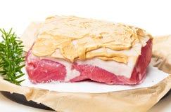 Salt roast, pork roast, preparation Stock Image