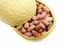 Salt-roasted peanuts close-up Stock Photo