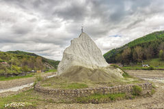 Salt rock Piatra Alba in Buzau County Stock Photo