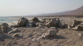 Salt Rocks at The Dead Sea Israel stock video