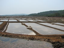 Salt salt extraction food industry India. Baths with salt salt extraction food industry India, Karnataka, Gokarna, March, 2017 stock images