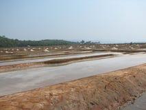 Salt salt extraction food industry India. Baths with salt salt extraction food industry India, Karnataka, Gokarna, March, 2017 royalty free stock photography
