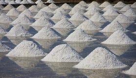 Salt on the salt pan at rural area,Thailand Stock Photography