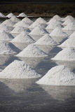 Salt on the salt pan at rural area,Thailand Royalty Free Stock Photography