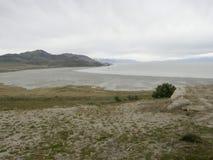 Salt salthaltig sjö Royaltyfria Bilder