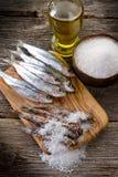 salt sardines Royaltyfria Bilder