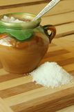 Salt scattered pile on board Stock Photography
