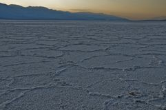 salt sceniskt för öken Arkivfoton
