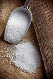 Salt in scoop Royalty Free Stock Images