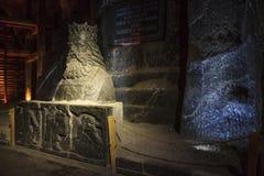 Salt sculpture Casimir III the Great Stock Photo