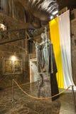 Salt sculpture depicting Pope John Paul II in the Wieliczka Salt Mine, Poland. Royalty Free Stock Images