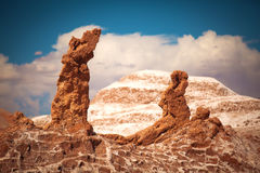 Salt sculptures is beautiful geological formation of Moon Valley Royalty Free Stock Photography