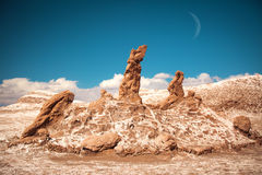 Salt sculptures is beautiful geological formation of Moon Valley Stock Image