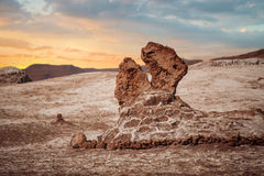 Salt sculptures is beautiful geological formation of Moon Valley Royalty Free Stock Photos