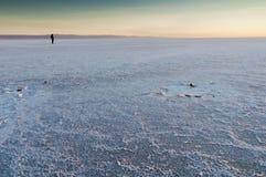 Salt See auf Sonnenaufgang Lizenzfreies Stockbild