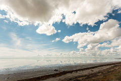 Salt See Elton und Reflexion Stockbild