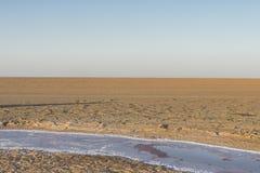 Salt See in Sahara tunesien lizenzfreie stockbilder