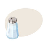 Salt shaker. Glass cellar. Royalty Free Stock Photography