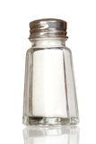 Salt shaker glass with reflection Stock Image