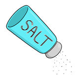 Salt shaker illustration. Free hand drawing Stock Photos