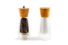 The salt shaker and papper Royalty Free Stock Photos