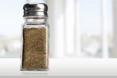 Salt Shaker. Pepper Shaker Salt Pepper Isolated Table Bottle stock photos