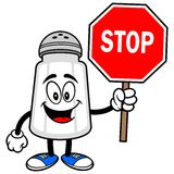 Salt Shaker with a Stop Sign Stock Photography