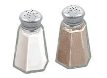 salt shakers för peppar Arkivbilder
