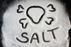 Salt and skull Stock Photos