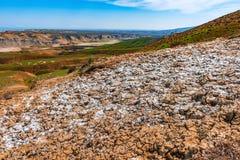 Salt on slopes of mountains Royalty Free Stock Image