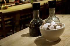 salt socker för peppar Arkivbilder