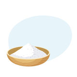 Salt or some powder bowl stock illustration