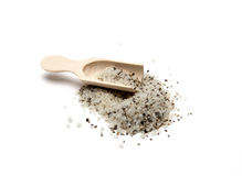Salt with spoon Royalty Free Stock Images