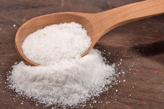 Salt in a spoon Royalty Free Stock Image