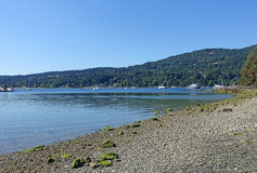 Salt Spring Island. Picture of Ganges harbour on Salt Spring Island,BC,Canada Royalty Free Stock Image