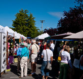 Salt Spring Market. Saltspring Island Saturday Market in Ganges - occurs each week to bring out local produce, art and crafts Royalty Free Stock Photo