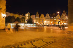 Salt Square in Wroclaw at Night Stock Photos