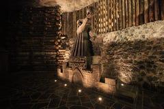 Salt statue of Mikolaj Kopernik Stock Photo