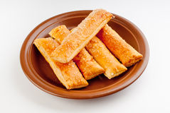 Salt sticks with cheese Royalty Free Stock Photos