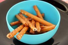 Salt sticks snack. Salted sticks. Stock Photography