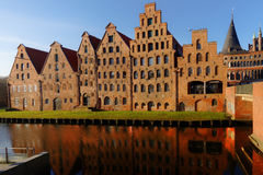 Salt storehouses in Lubeck, Germany Royalty Free Stock Photo