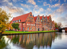 Salt storehouses of Lubeck Royalty Free Stock Image
