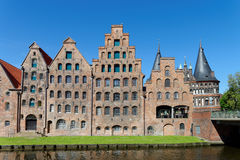 Salt Storehouses Luebeck Royalty Free Stock Image