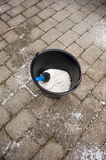 Salt for the street Royalty Free Stock Photo