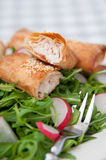 Salt strudel with trout Royalty Free Stock Photo