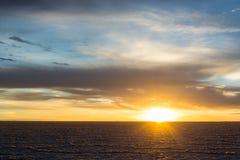 Salt sunrise, Uyuni royalty free stock photos