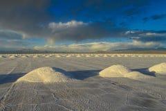 Salt at the surface of Uyuni Salar Stock Photography