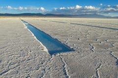 Salt at the surface of Uyuni Salar Stock Image