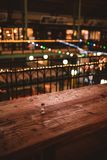 Salt in a table in christmas market in Budapest, Hungary stock photo