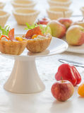 Salt tartlets with  peperoni Stock Photo